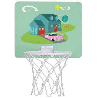 Retro Suburban House Mini Basketball Hoop