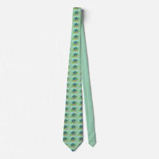 Retro Suburban House Neck Tie