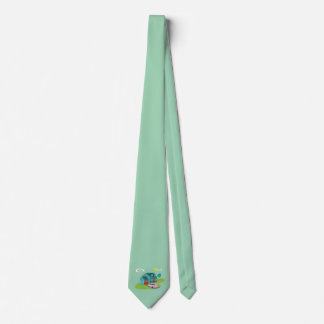 Retro Suburban House Necktie