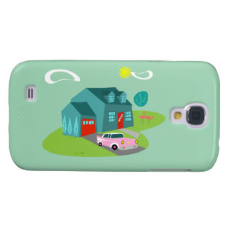 Retro Suburban House Samsung Galaxy Case