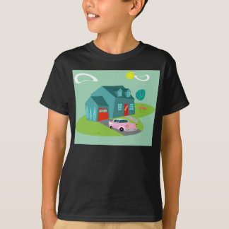 Retro Suburban House T-Shirt