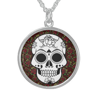 Retro Sugar skull red Customizable Necklace