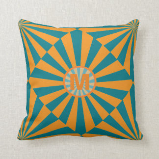 Retro Sunbeam Throw Pillow