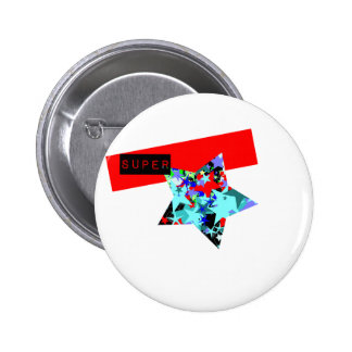 Retro Superstar In Day-Glo Pinback Buttons