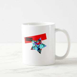 Retro Superstar In Day-Glo Basic White Mug
