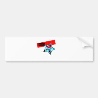 Retro Superstar In Day-Glo Bumper Stickers