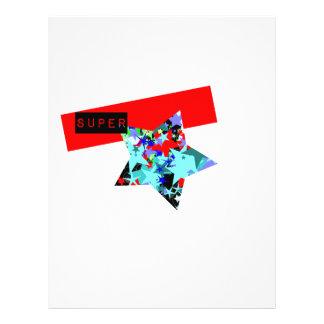 Retro Superstar In Day-Glo Flyer Design
