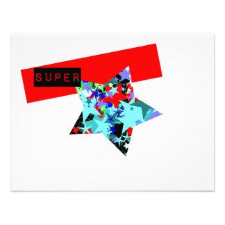 Retro Superstar In Day-Glo Invitation