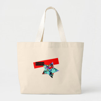 Retro Superstar In Day-Glo Jumbo Tote Bag