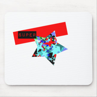 Retro Superstar In Day-Glo Mouse Pad
