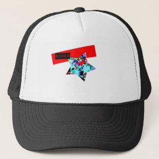 Retro Superstar In Day-Glo Trucker Hat