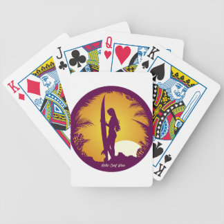 Retro Surf Wear Bicycle Poker Deck