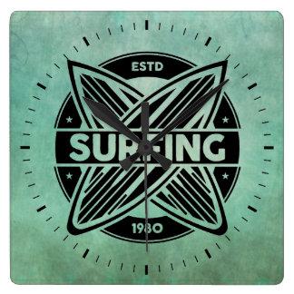 Retro Surfboards Wall Clock