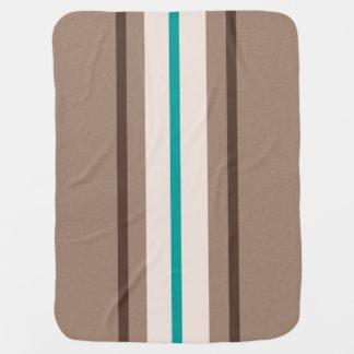 Retro Surfing Stripes Pattern Baby Blanket