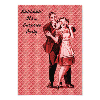 Retro Surprise Party Card
