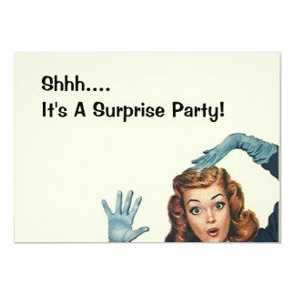 Retro Surprise Party Fun Expression Vintage Style 13 Cm X 18 Cm Invitation Card