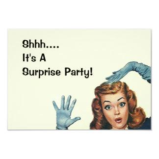 Retro Surprise Party Fun Expression Vintage Style Card