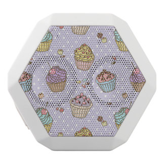 Retro Sweets Pattern White Boombot Rex Bluetooth Speaker