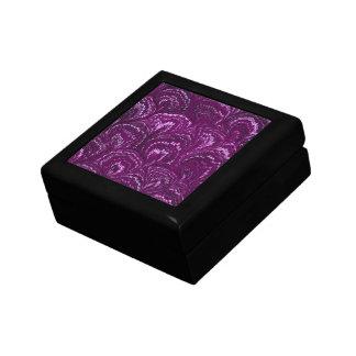 Retro Swirls Amethyst Purple Jewelry Box