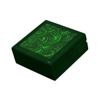 Retro Swirls Emerald Green Gift Box