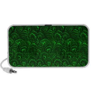 Retro Swirls Emerald Green Portable Speaker