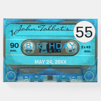 Retro T4 Audiotape 55th birthday Party Guest Book
