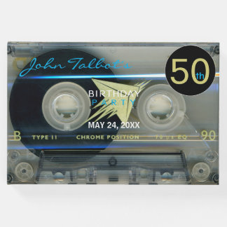 Retro T5 Audiotape 50th birthday Party Guest Book