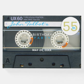 Retro T6 Audiotape 55th birthday Party Guest Book