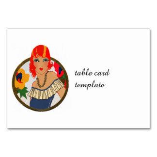 Retro Tally Card Redhead