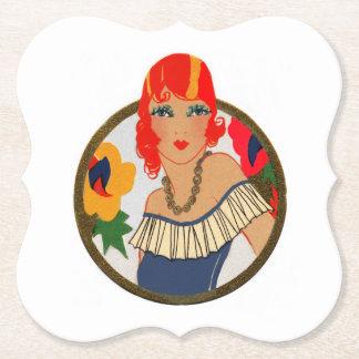 Retro Tally Card Redhead Paper Coaster
