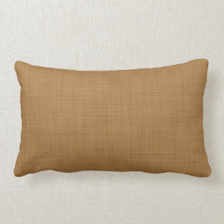 Retro Tan Beige Linen Texture Pattern Lumbar Cushion