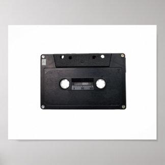 retro tape cassette player music hipster stereo poster