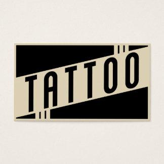 retro tattoo business card