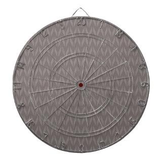 Retro Taupe Brown Chevron Pattern Dart Board