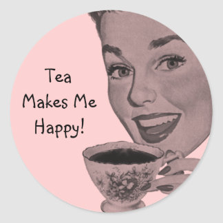 Retro Tea Round Sticker