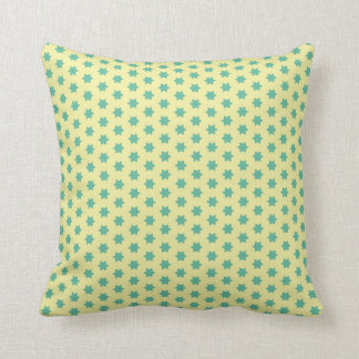 Retro teal star pillow