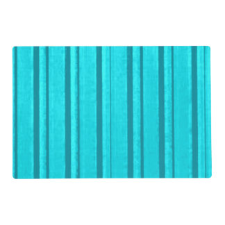 Retro Teal Stripe Laminated Place Mat