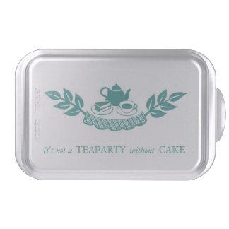Retro Teaparty Aqua Cake Pan