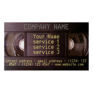 Retro tech VHS business card video audio business