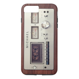 Retro Tech Vintage Stereo Recorder Wooden Cabinet iPhone 7 Plus Case