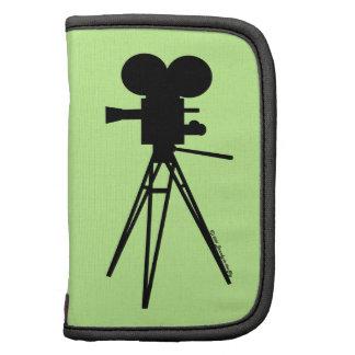 Retro Technicolor Movie Camera Silhouette Folio Planners