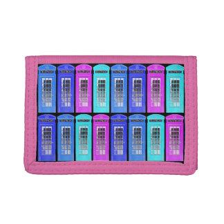 Retro Telephone Boxes Trifold Wallet