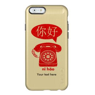 Retro Telephone Ni Hao Chinese Characters Incipio Feather® Shine iPhone 6 Case