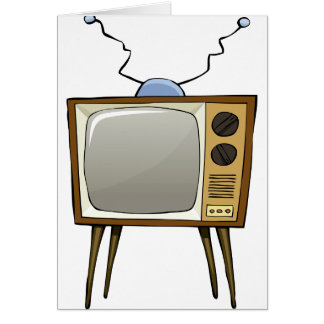 Retro Television Note Cards