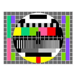 'Retro television' postcard