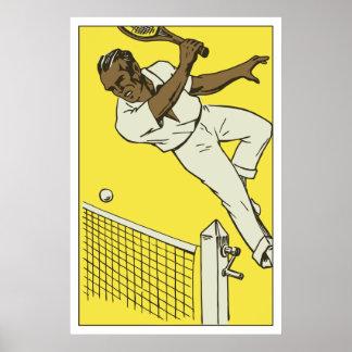 Retro tennis championship ad poster
