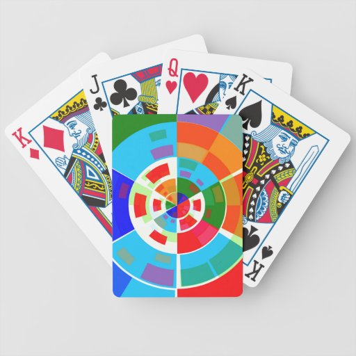 Retro Test Pattern Bicycle Playing Cards