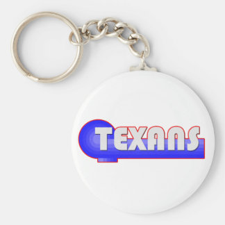 Retro Texans Basic Round Button Key Ring