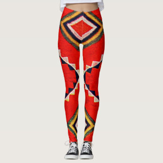 Retro Textile Design 1900 a Leggings