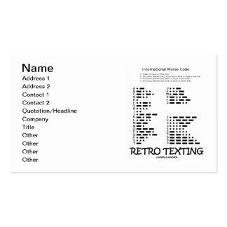 Retro Texting (International Morse Code) Business Cards